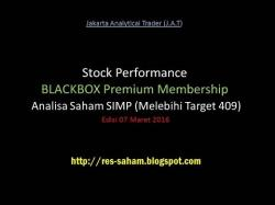 Binary Option Tutorials - trading saham Stock Performance BLACKBOX Premium