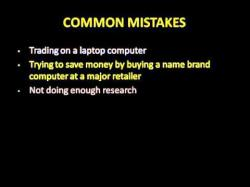 Binary Option Tutorials - trading setup How Computers Affect Your Online Tr